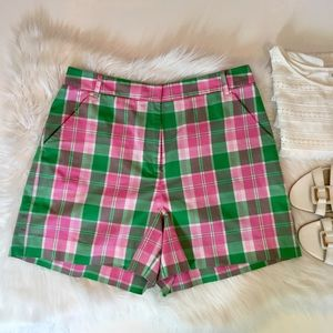 Lilly Pulitzer Plaid Shorts, 10